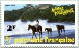 N° Yvert 400 - Timbre De Polynésie (1992) - MNH - Promenade à Cheval Sur La Plage (JS) - Polinesia Francese