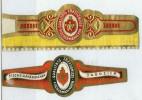 2 Alte Zigarrenbanderolen - Bauchbinden Der Zigarrenmarke: Fischermännchen - Bauchbinden (Zigarrenringe)