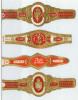4 Alte Zigarrenbanderolen - Bauchbinden Der Zigarrenmarke: Fina Flor - Bagues De Cigares