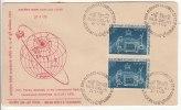 Pair On FDC Of Plenary Assembly Of International Radio Consultative Committee Space Antena Dish Telecom India 1970 - Telecom