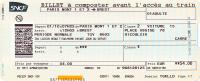 Billet SNCF (2011), Paris Montparnasse - Brest, TGV, Période Normale, Classe 2 - Chemins De Fer