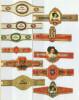 11 Alte Zigarrenbanderolen - Bauchbinden Der Zigarrenmarke: Duc George - Bauchbinden (Zigarrenringe)