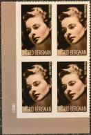 USA 2015 #5012 Legends Of Hollywood Ingrid Bergman 4 X 0.49c  MNH** - United States