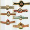 7 Alte Zigarrenbanderolen - Bauchbinden Der Zigarrenmarke: Graf Egbert - Bauchbinden (Zigarrenringe)