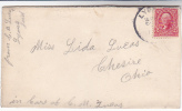 1908 USA COVER LYONS IND To CHESIRE OHIO United States Stamps - United States