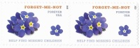 USA 2015 Forget Me Not - Help Find Missing Children 0.49c X 2 MNH ** - United States