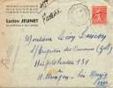 FRANCE - POSTE FERROVIAIRE - COURRIERS CONVOYEURS LIGNES - CLAIRVAUX A LONS LE SAUNIER - 9.5.1932 - Marcophilie (Lettres)