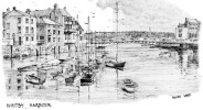 Postcard - Whitby Harbour By Brian Lewis, Yorkshire. BL - Whitby
