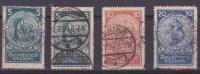 DEUTSCHES REICH, 1924, Deutsche Nothilfe: Rosenwunder, Mi 351x2+352+353  ( 1522/2) - Germania