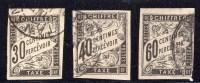 Colonie Française  N° 9 à 11  Avec Oblitération Cachet à Date  TB - Postage Due
