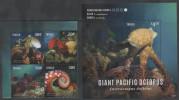 TUVALU, 2014,MNH, MARINE LIFE, OCTOPUS, GIANT PACIFIC OCTOPUS, 4v +S/S,NICE PHOTOS - Marine Life