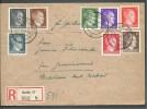 Reich - Lettre Recommandée Avec Timbres Mi 781/786 + 788 + 826 - Duitsland