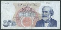 ITALY  ITALIA ITALIEN ITALIE  1965 1000 LIRE USED - 500 Lire