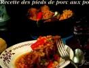RECETTE DES PIEDS DE PORC AUX POIS.....CPM - Recepten (kook)