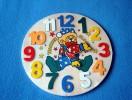Puzzle En Bois Rond Pour Apprendre L'heure - Neuf - Décoré D'un Clown - Les Mains Du Clown Indiquent L'heure - Chaque Ch - Puzzles