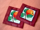 Lot De 2 Serviettes En Papier Bordeaux - Motif : Pomme - Neuves - Dimensions 33* 33 Cm - Serviettes Papier à Motif