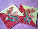 Lot De 2 Serviettes En Papier Oranges - Neuves - Motif: Marguerites - Dimensions 33* 33 Cm - Serviettes Papier à Motif