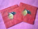 Lot De 2 Serviettes En Papier Oranges - Neuves - Motif: Nature Morte (citrons) - Dimensions 33* 33 Cm - Ref 6550 - Serviettes Papier à Motif