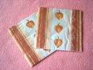 Lot De 2 Serviettes En Papier Oranges - Neuves - Motif: Fruit Sec - Dimensions 33* 33 Cm - Serviettes Papier à Motif