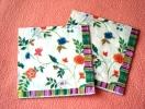 Lot De 2 Serviettes Crèmes ´Viktoria´ - Neuves - Motif: Fleurs Des Champs - Dimensions 33* 33 Cm - Serviettes Papier à Motif