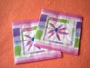 Lot De 2 Serviettes Mauves ´Allegria´ - Neuves - Motif: Fleur Mauve - Dimensions 33* 33 Cm - Serviettes Papier à Motif