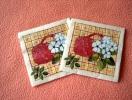 Lot De 2 Serviettes Crèmes ´Hanna´ - Neuves - Motif: Pot De Fleurs - Dimensions 24*24 Cm - Serviettes Papier à Motif