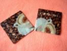 Lot De 2 Serviettes Brunes ´Cappuccino´ - Neuves - Motif: Tasse De Café - Dimensions 12 * 12 Cm - Serviettes Papier à Motif