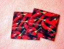 Lot De 2 Serviettes Rouges ´Fresh Chillies´ - Neuves - Motif: Piments Rouges - Dimensions 12 * 12 Cm - Serviettes Papier à Motif
