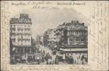 Bruxelles - Bd Anspach / TRAMS HYPPO  / Très Vieille Carte 1900 - Belgien