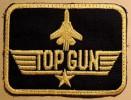 Ecusson, Patch à Coudre : Aviation USA - TOP-GUN Rectangulaire - Escudos En Tela