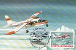PLANES, BN-2, AVIATION DAY, CM, MAXICARD, CARTES MAXIMUM, 1985, ROMANIA - Aerei