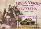 Tanzania.2005.Jules Verne./Adventures At Sea.Sheet.4v.MNH.21927 - Ecrivains