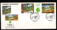 REPUBLIQUE CENTRAFRICAINE,1985, PHILEXAFRIQUE III,. INTERNATIONAL PHILATELIC EXHIBITION - Burkina Faso (1984-...)