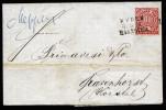 A3518) AD Norddeutscher Postbezirk Brief Mit Bahnpoststempel EMDEN-HANNOVER 3.6.1868