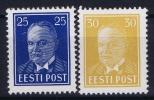 ESTLAND/ESTONIA: Mi Nr 135 - 136 MH/*, Avec  Charnière , Mit Falz, 1938 - Estonie