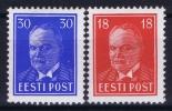 ESTLAND/ESTONIA: Mi Nr 146 - 147 MH/*, Avec  Charnière , Mit Falz, 1939 - Estonie