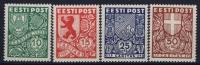 ESTLAND/ESTONIA: Mi Nr  142 - 145 MNH/** Sans Charnière  Postfrisch  Signed/ Signé/signiert - Estland