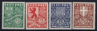 ESTLAND/ESTONIA: Mi Nr  142 - 145 MNH/** Sans Charnière  Postfrisch  Signed/ Signé/signiert - Estonie