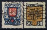 ESTLAND/ESTONIA: Mi Nr  111 + 112  Gestempelt/used 1936 - Estonie