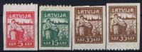 LATVIA/LETTLAND Mi Nr 25  - 27  Einseitig Perforiert MH/*, Avec  Charnière , Mit Falz / 1919 - Lettland