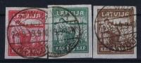 LATVIA/LETTLAND Mi Nr 25 Y - 27 Y Gestempelt/used/ Obl. - Latvia