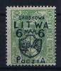 Mittel Litauen Mi Nr 8 MH/*, Avec  Charnière , Mit Falz - Lituanie
