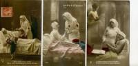 Lot De 3 Cartes : Infirmières De La Croix Rouge - Croix-Rouge