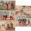 Lot 5 Chromos - Image -  SAVON NORMAL - CHAUVET & CIE - MARSEILLE - Militaria - Militaire - Humour - Trade Cards