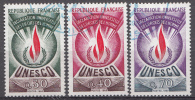 France 1969  Mi. Nr.: 9-11 Unesco  Oblitérés / Used / Gest. - Frankrijk