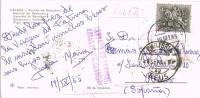 15401. Postal FATIMA (Portugal) 1965 A España. Cartería, Lista, Devolucion Retour - 1910-... República