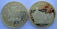 ZAMBIA SAMBIA  2014 1000 KWACHA MONETA DA 31,10 GRAMMI GOLD  PLATED SURICATO UNC - Zambia