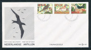 Niederl�ndisch Antillen Michel Nr. 536 - 538 V�gel auf illustrierten Ersttagsbrief 1986