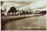 Barnstaple From The Bridge Black & White Real Photo Postcard 1952 - England