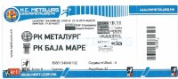 Handball TICKET EHF Champions League 2015/16 Metalurg ( Macedonia ) Vs Baia Mare ( Romania ).UNUSED - Tickets D'entrée